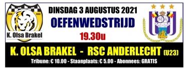OLSA ontvangt RSC Anderlecht (U23)