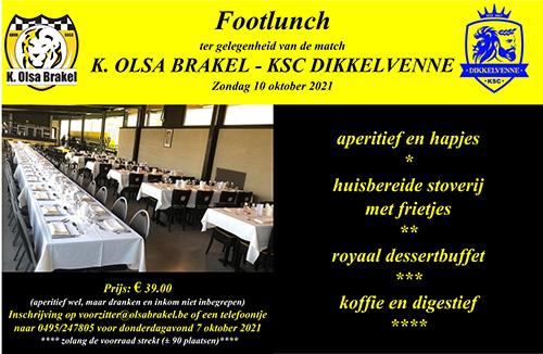 Footlunch OLSA - Dikkelvenne