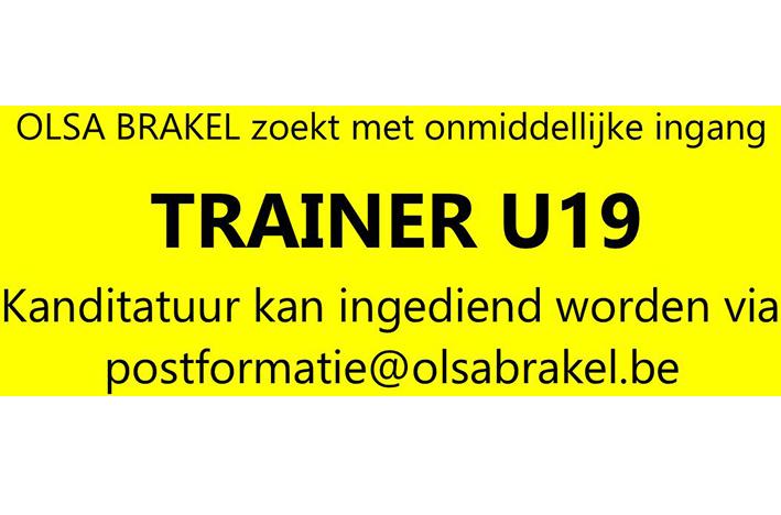 Trainer Interprovinciale U19 gezocht